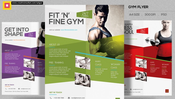 35+ Fitness Flyer Templates - PSD, Vector EPS, JPG Download - fitness brochure template