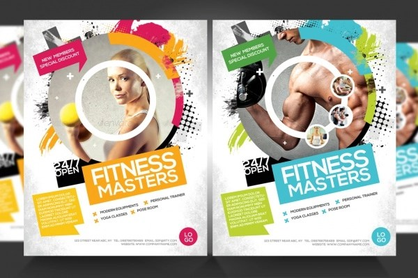 exercise flyers psd \u2013 Tips For Life - discount flyer template