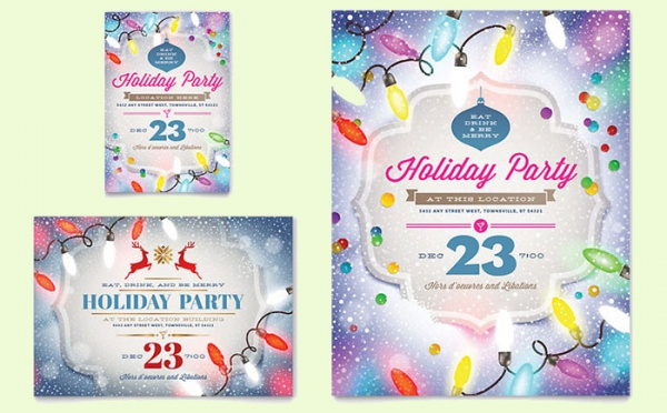 Holiday Party Flyer Template Free Christmas Party Flyer Templates - holiday party flyer template