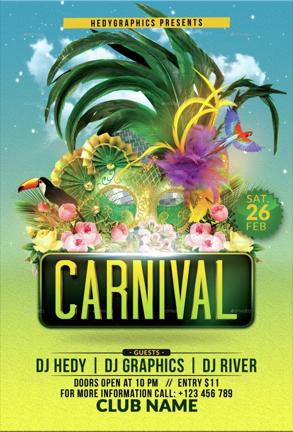 28+ Modern Carnival Flyer Templates  Creatives - PSD, AI, word, EPS