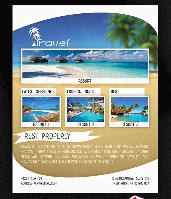 32+ Travel Flyers - PSD, Vector EPS, JPG Download FreeCreatives - Vacation Brochure Template