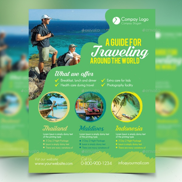 vacation flyer template - Funfpandroid - Vacation Brochure Template
