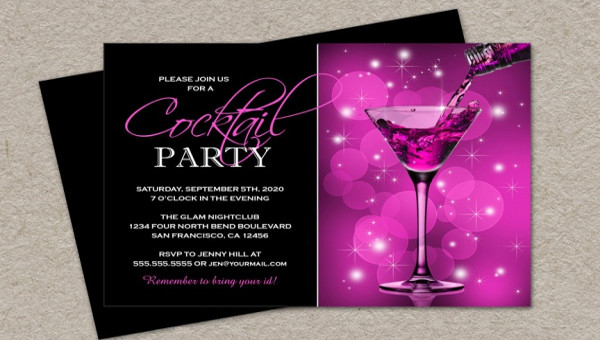 21+ Cocktail Party Invitations - PSD, Vector EPS, JPG Download - cocktail party invitations