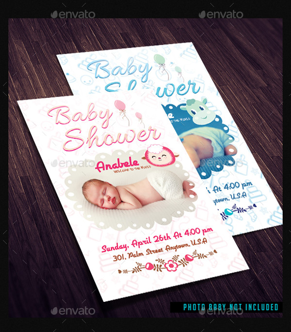 21+ Baby Shower Flyer Templates - PSD, AI Illustrator Download - baby shower flyer template free