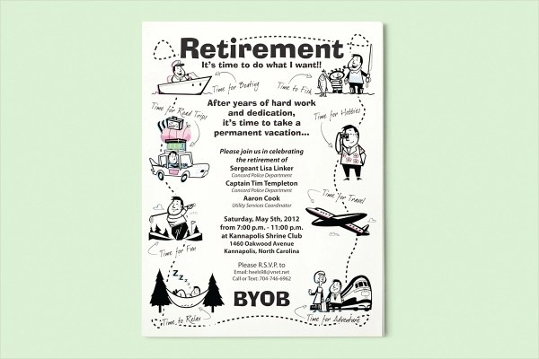 15+ Retirement Flyers - PSD, Vector EPS, JPG Download FreeCreatives - retirement party flyer template