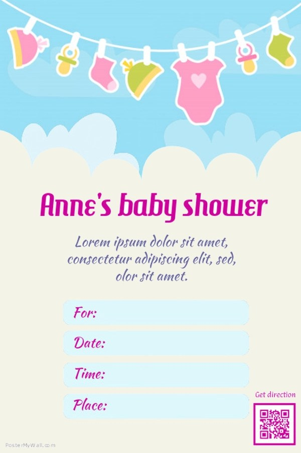 21+ Baby Shower Flyer Templates - PSD, AI Illustrator Download - editable baby shower invitations