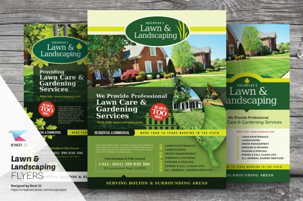 20+ Lawn Care Flyers - PSD, Vector EPS, JPG Download FreeCreatives - lawn services flyer
