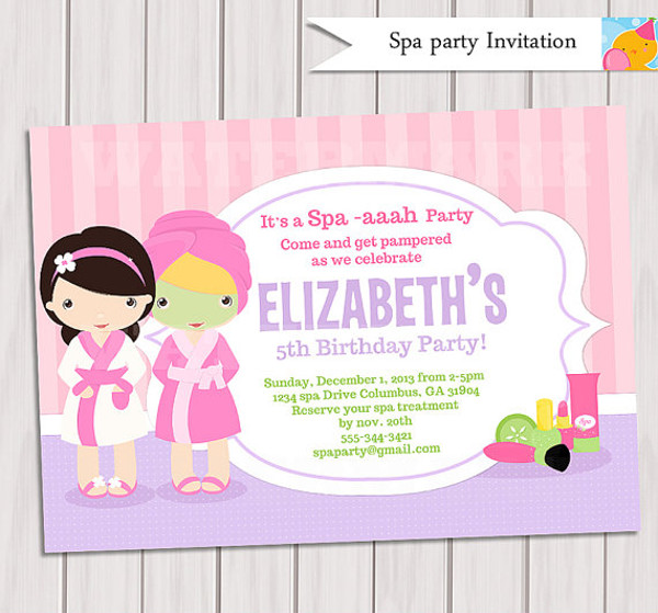 20+ Spa Party Invitations - PSD, Vector EPS, JPG Download
