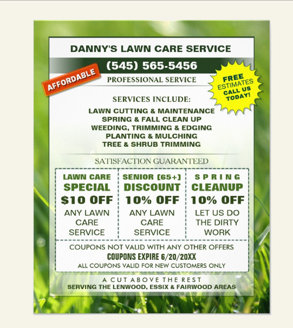 lawn care flyer template free