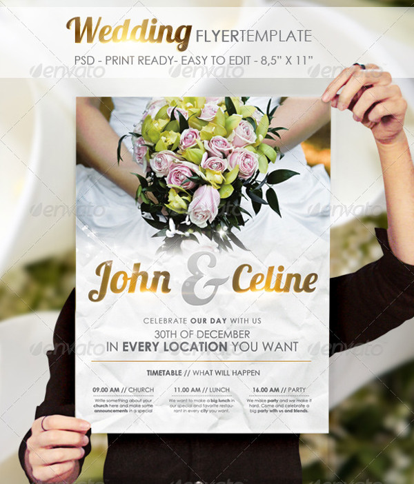 24+ Wedding Flyer Templates - PSD, Vector EPS, JPG Download - wedding flyer
