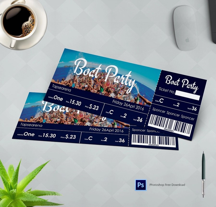 Free Ticket Designs (Event, Holiday, Travel) - 10+ PSD\u0027s Download - party ticket template free