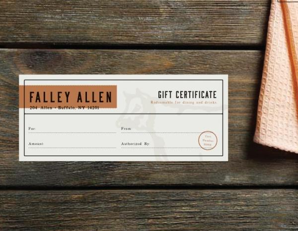 Free Restaurant Gift Certificate Template Costumepartyrun