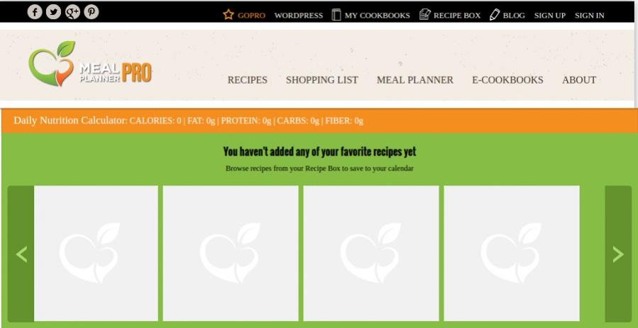 online meal calendar - Goalgoodwinmetals