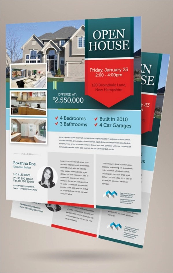Free Open House Flyers Nfcnbarroomcom - Free open house flyer template