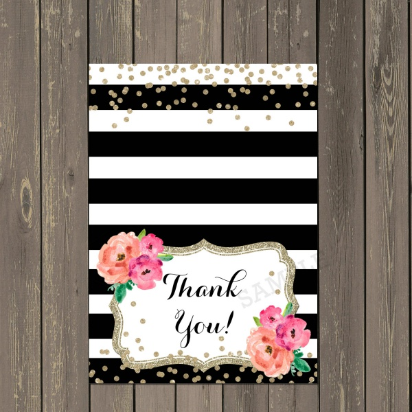 21+ Printable Thank you Cards - PSD, Vector EPS, AI Illustrator Download - printable thank you cards black and white