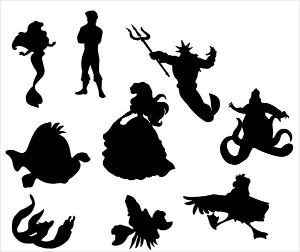 21+ Mermaid Silhouettes - Vector, JPG, AI Illustrator Download