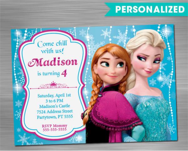 10+ Unique Frozen Birthday Invitations - PSD, AI, Word