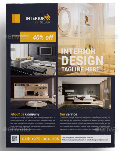 9+ Interior Design Flyers - interior design flyers