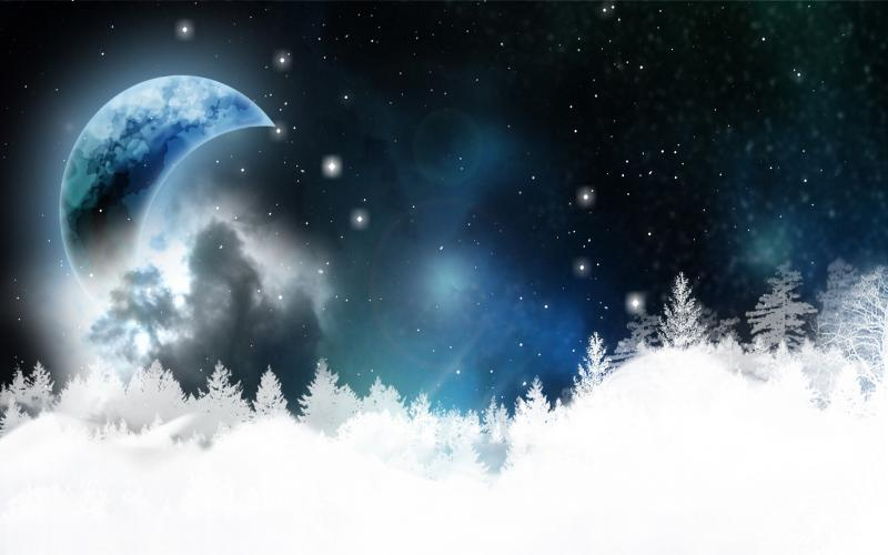 Cute Merry Christmas Wallpaper Backgrounds Hd Beautiful Winter Night Wallpaper Download Free 82768