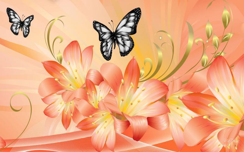 Cute Japanese Art 4k Wallpaper Hd Dramatic Lilies Wallpaper Download Free 76851