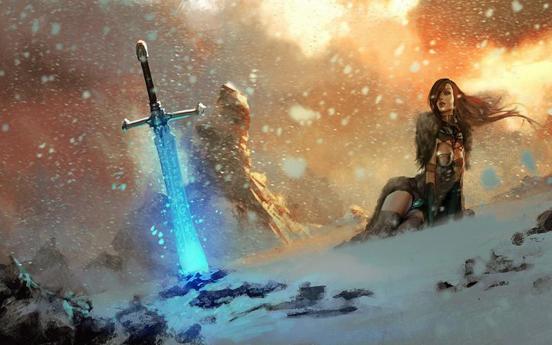 Wallpaper Hd Army Girl Hd Magic Sword Wallpaper Download Free 93612