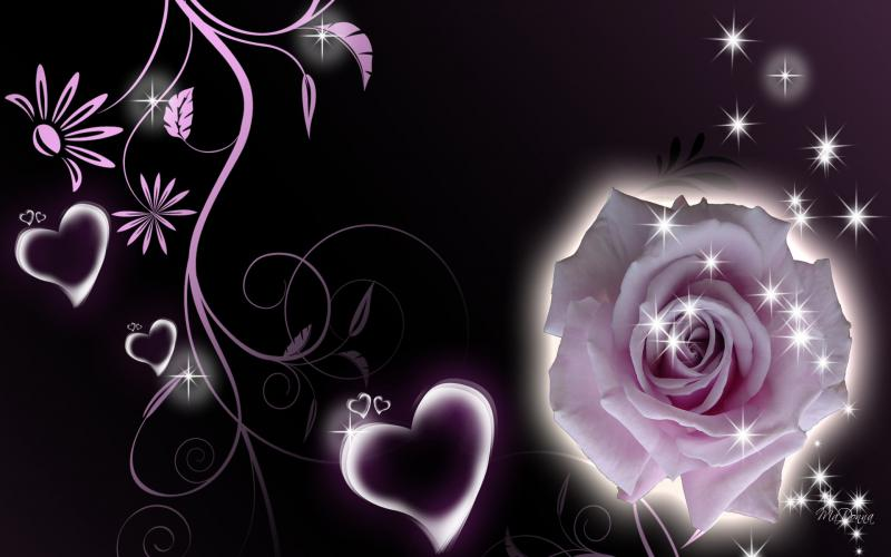 Animated Happy New Year D Hd Rose Hearts Wallpaper Download Free 92279