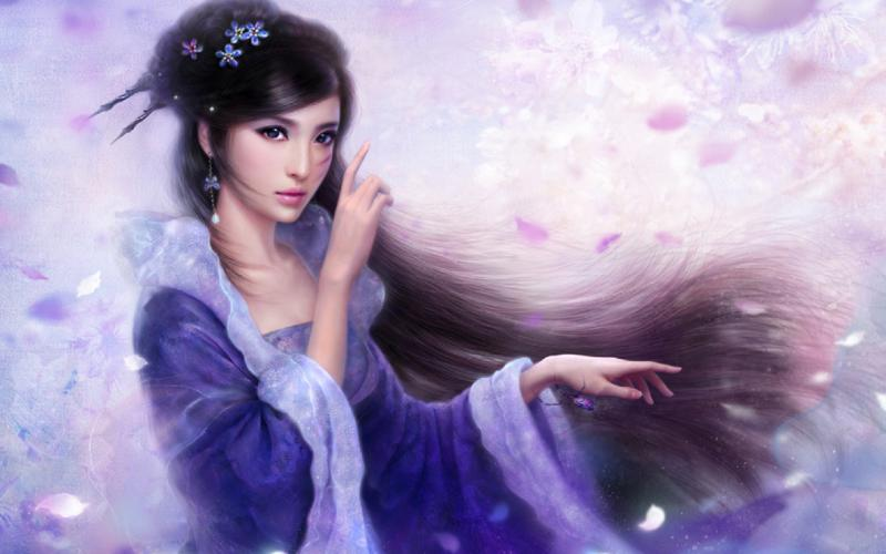 Anime Girl Chinese Dress Blue Wallpaper Hd Beautiful Cg Girl Wallpaper Download Free 88666
