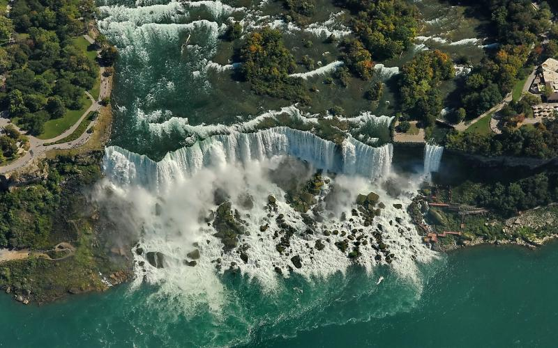 Travel Background Hd Wallpapers Free Niagra Falls Hd Waterfall Aerial View Wallpaper Download Free 79037