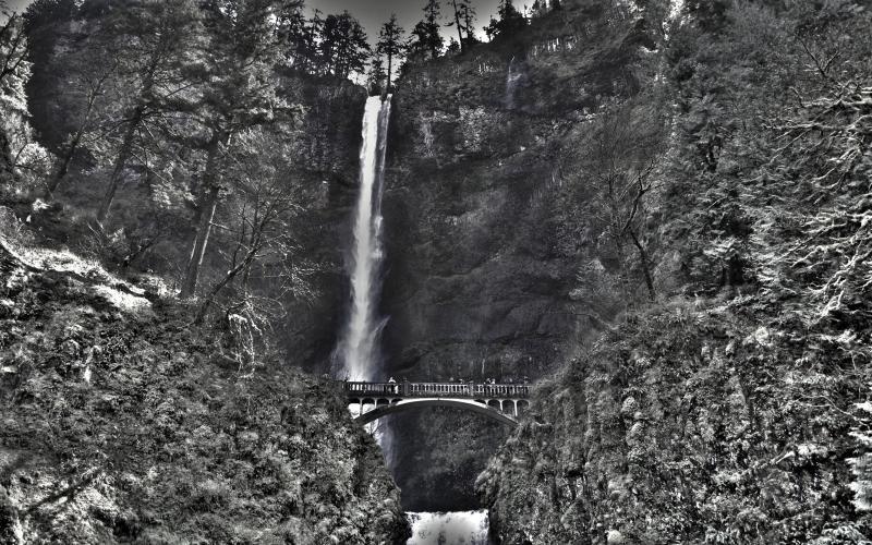 Free Animated 3d Wallpaper Hd Multnomah Waterfalls Wallpaper Download Free 98200