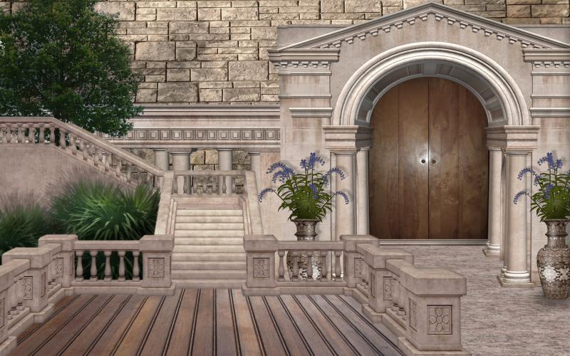 Cute Baby Tiger Wallpaper Hd Castle Courtyard Wallpaper Download Free 113351