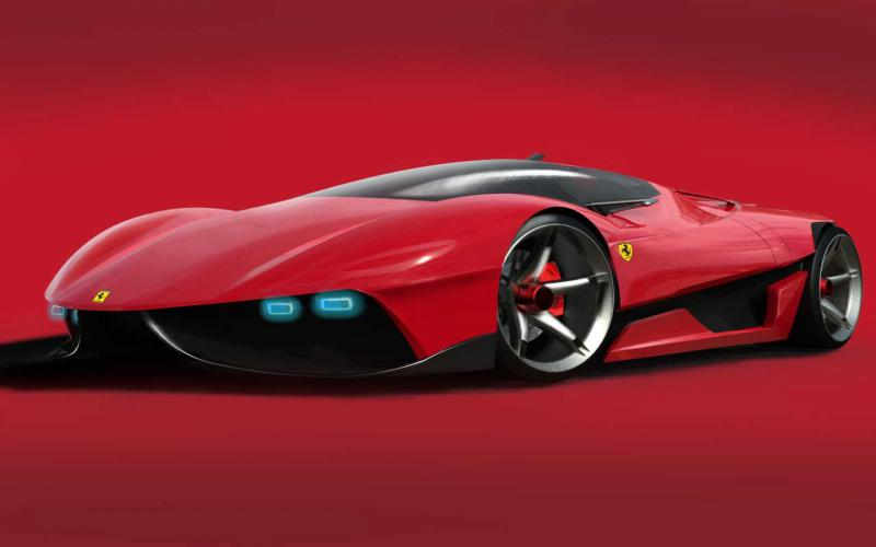 Animated Happy New Year D Hd Futuristic Ferrari Car Wallpaper Download Free 130917
