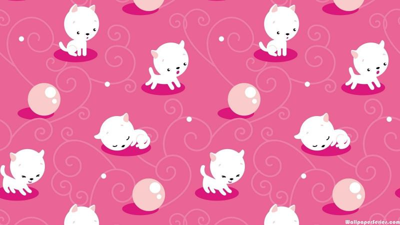Cute Anime Cat Girl Wallpaper For Computer Hd Cute Cat Pattern Wallpaper Download Free 139351