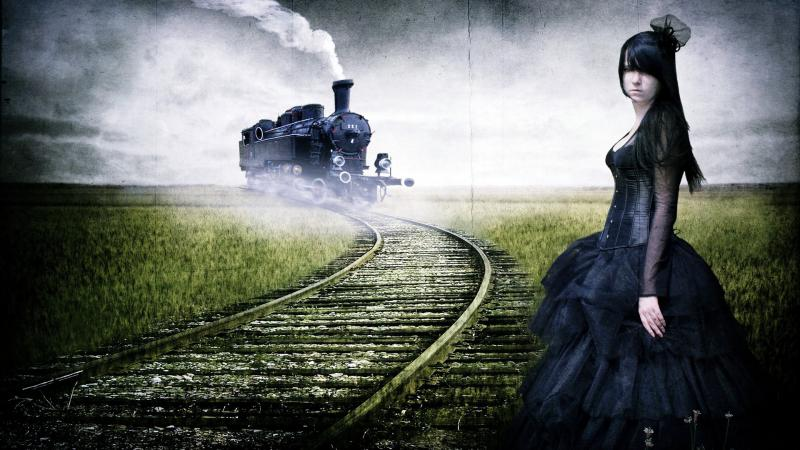 Animated Girl Wallpaper Free Download Hd Girl Waiting For Train Free Wallpaper Download Free