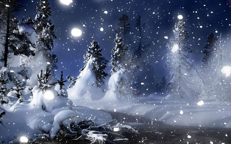 New Year Wallpapers 3d Hd A Magical Winter Night Wallpaper Download Free 58337