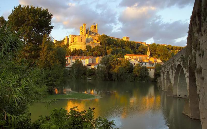 Good Night 3d Wallpapers Free Download Hd Beautiful French Castle On A Hill In Sunset Wallpaper