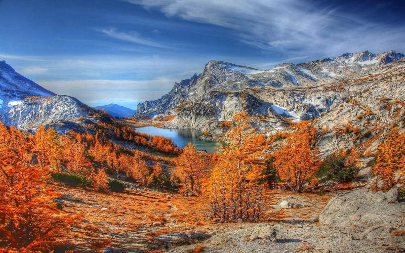 Animated Happy New Year D Hd Amazing Mountain Lake In Autumn Hdr Wallpaper