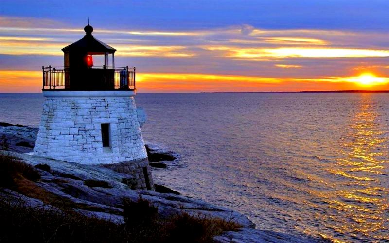 Good Morning Wallpaper Cute Hd Lighthouse At Dusk Wallpaper Download Free 72351
