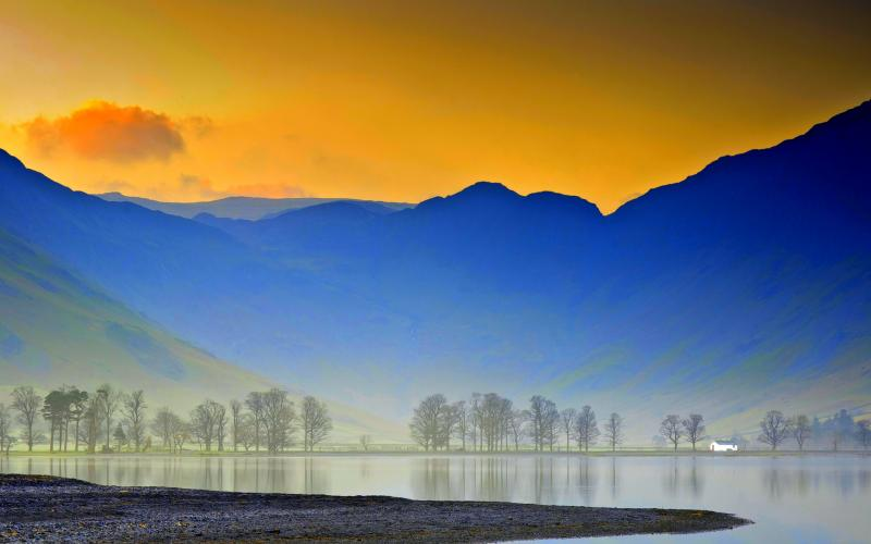 3d Moving Wallpaper Pictures Hd Misty Mountain Lake Wallpaper Download Free 49578