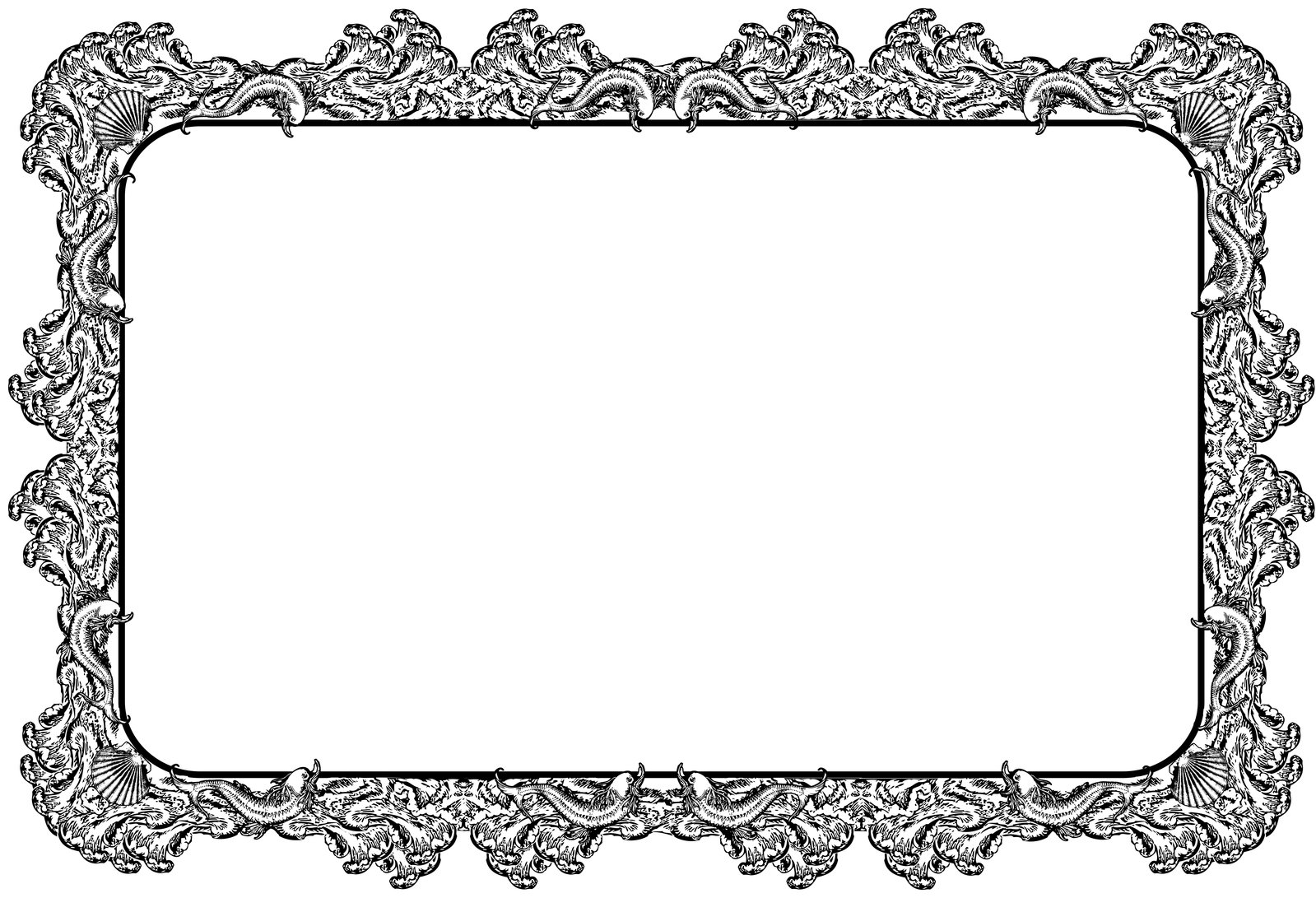 Cadre à Colorier Imprimer Free Decorative Retro Style Border Or Frame Stock Photo