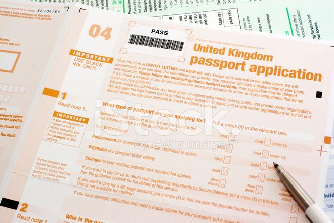UK Passport Application Form Stock Photos - FreeImages - passport renewal application form