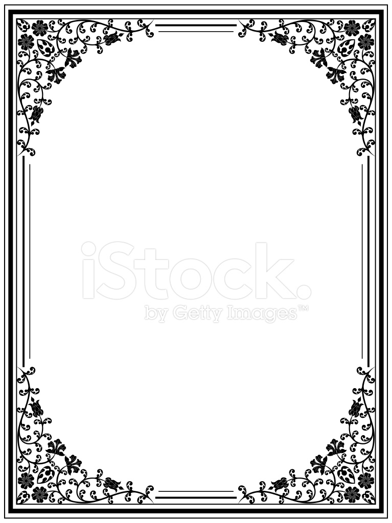 Vintage Floral Frame Stock Vector - FreeImages - word design frames