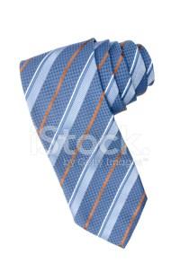 Striped Blue, White and Orange Tie Stock Photos ...