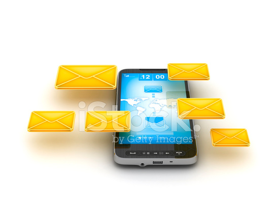 Short Message Service (sms) amp; Mobile Internet Stock Photos