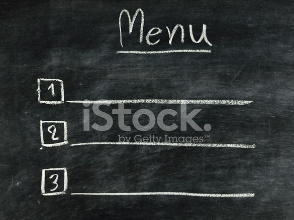 The Word Menu Written on Blackboard Stock Photos - FreeImages