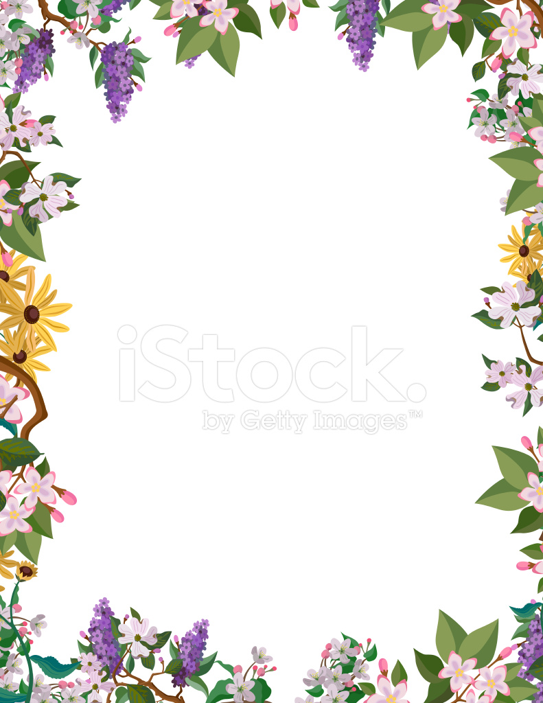 Fall Leaves Wallpaper Powerpoint Background 꽃 테두리 프레임 Stock Vector Freeimages Com