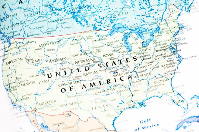 Amerika Birleşik Devletleri Abd Haritası Stok Fotoğrafları - amerika haritasi