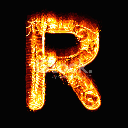 Wallpaper Design Black Fire Alphabet R Stock Photos Freeimages Com