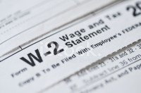 W2 Income Tax Form Stock Photos