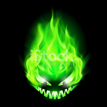 3d Virus Wallpaper Fiery Monster Stock Vector Freeimages Com