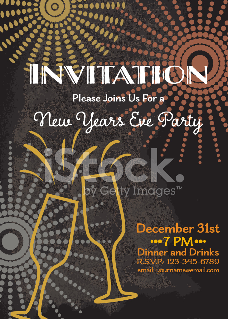 New Year\u0027s Eve Party Invitation Template Stock Vector - FreeImages